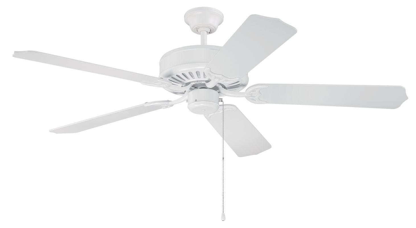 "Ellington Fans E52 Pro 52"" 5 Blade Indoor Ceiling Fan White Fans"