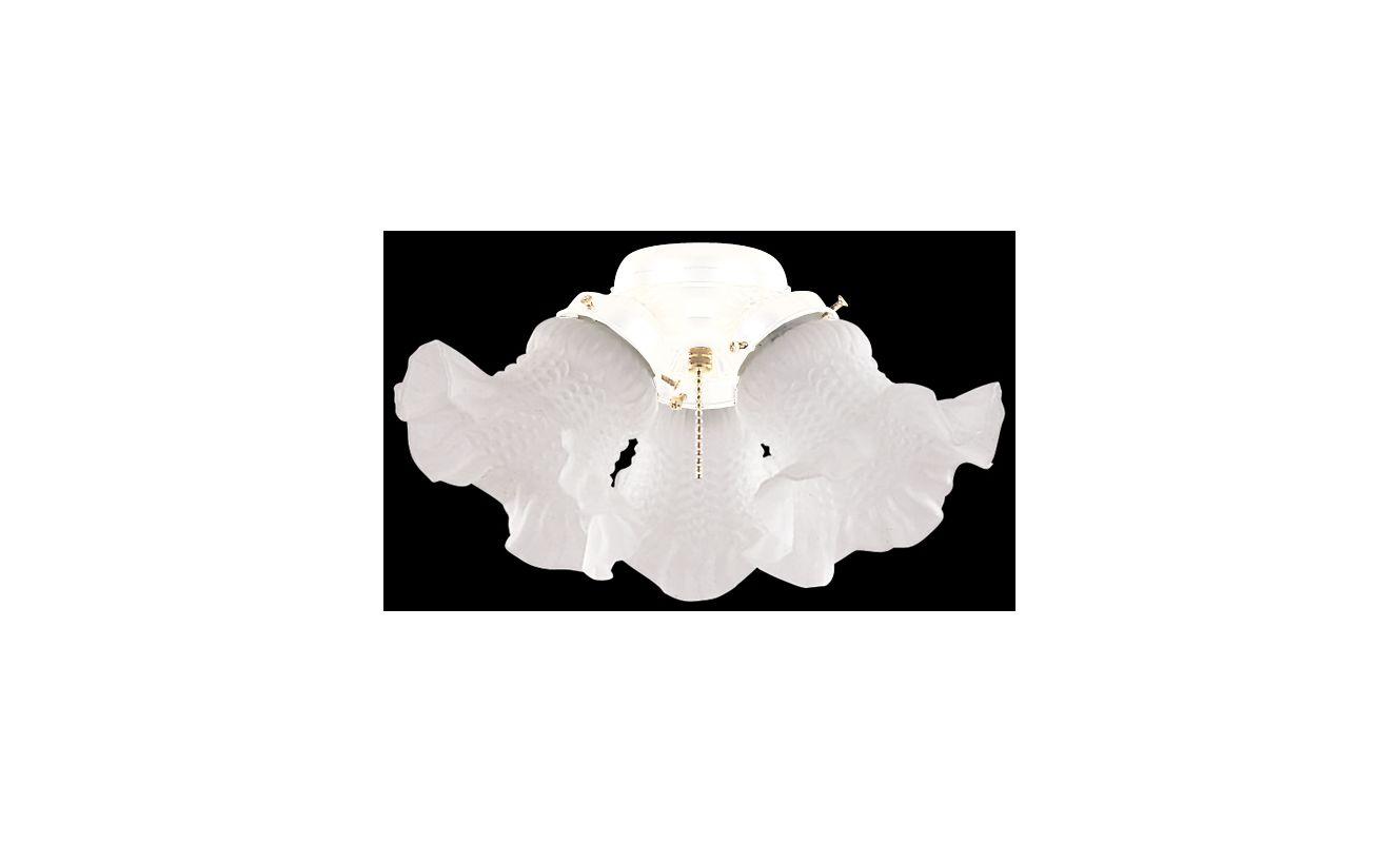 Ellington Fans ECK11 3 Light Small Cluster Tulip Glass Light Kit White