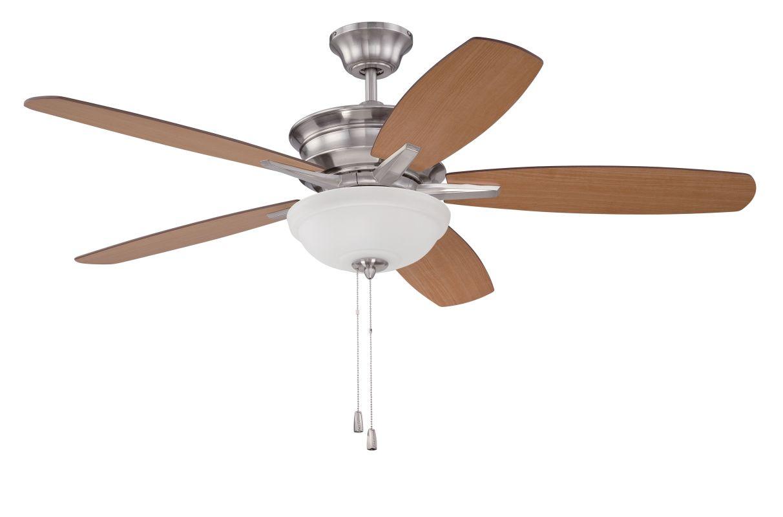 """Ellington Fans PNB52 Penbrooke 52"""" 5 Blade Hanging Indoor Ceiling Fan"""