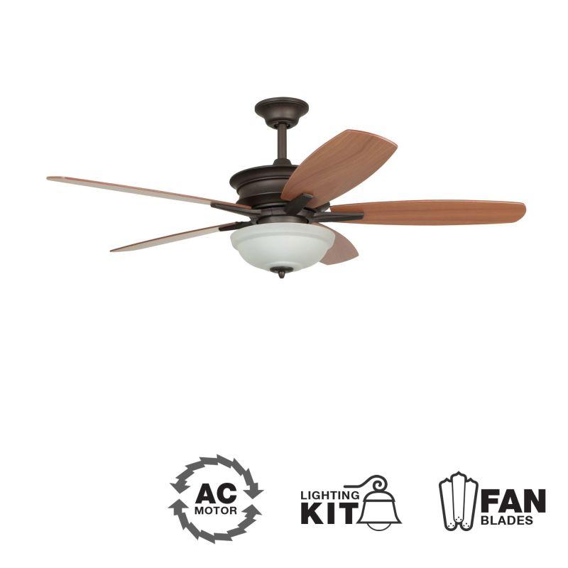 """Ellington Fans Penbrooke 52"""" 5 Blade Indoor Ceiling Fan - Blades and"""