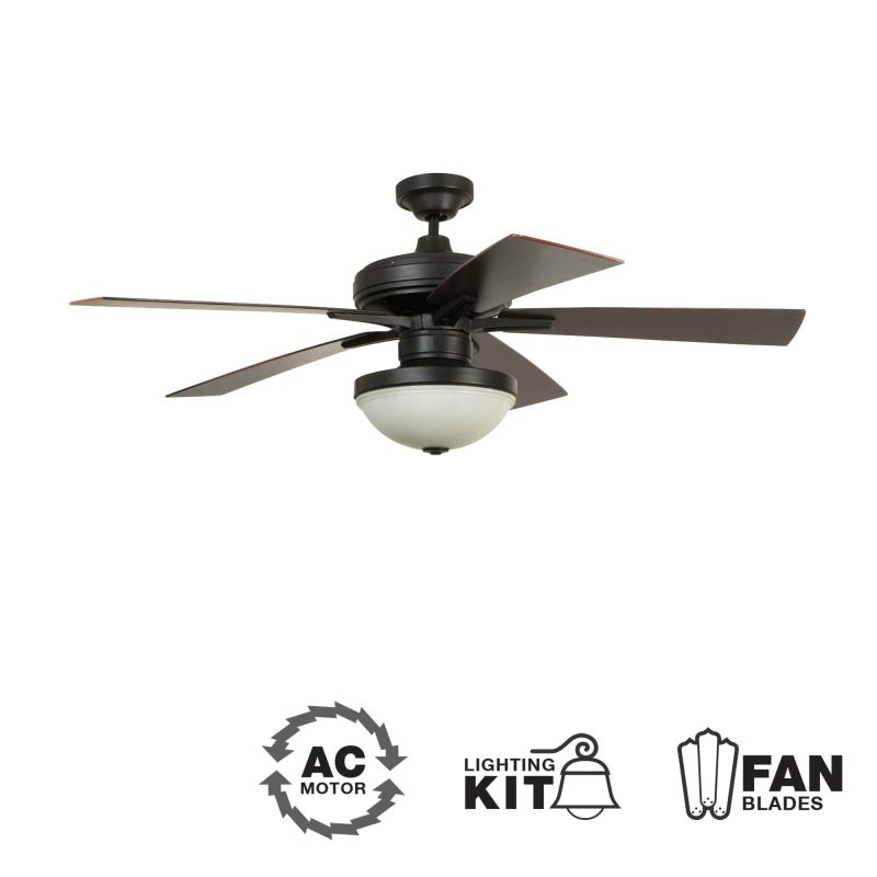 Ellington Fans Riverfront 52&quote 5 Blade Outdoor Ceiling Fan - Blades and