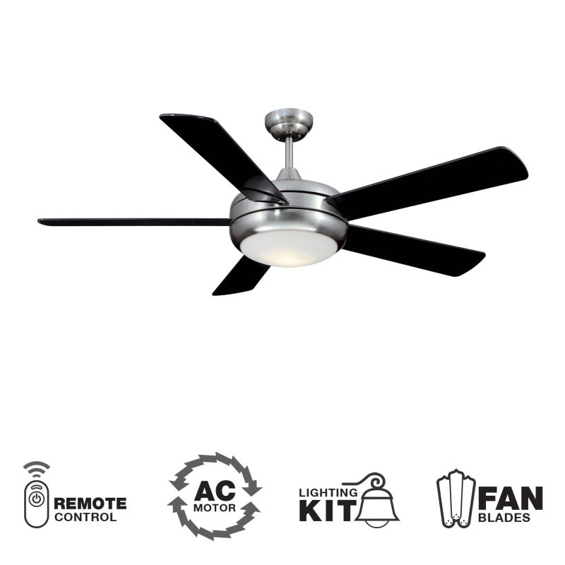 "Ellington Fans TIT52SCH5LKRCX Modern 52"" 5 Blade Indoor Ceiling Fan -"