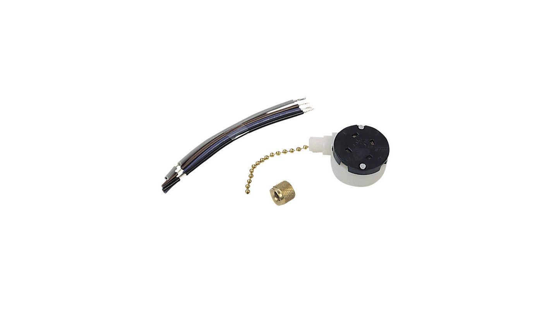 Ellington Fans TSS-300 Single Capacitor Fan Switch Bright Brass