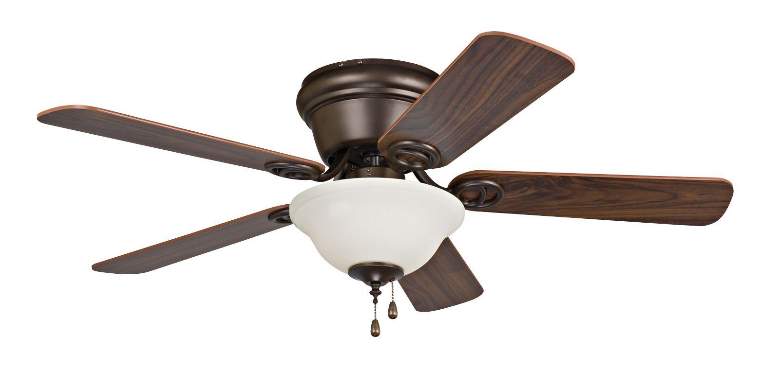 """Ellington Fans Wyman 42"""" 5 Blade Indoor Hugger Ceiling Fan Oil Rubbed"""