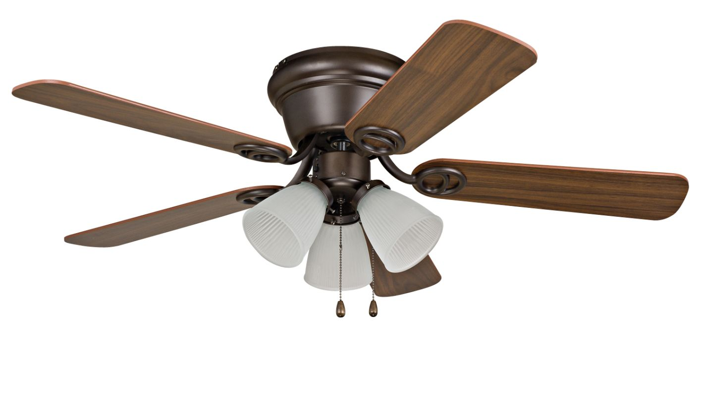 "Ellington Fans Wyman 42"" 5 Blade Indoor Hugger Ceiling Fan Oil Rubbed"