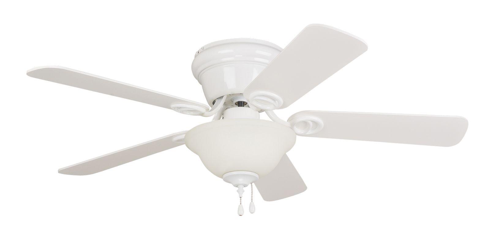"Ellington Fans Wyman 42"" 5 Blade Indoor Hugger Ceiling Fan White with"