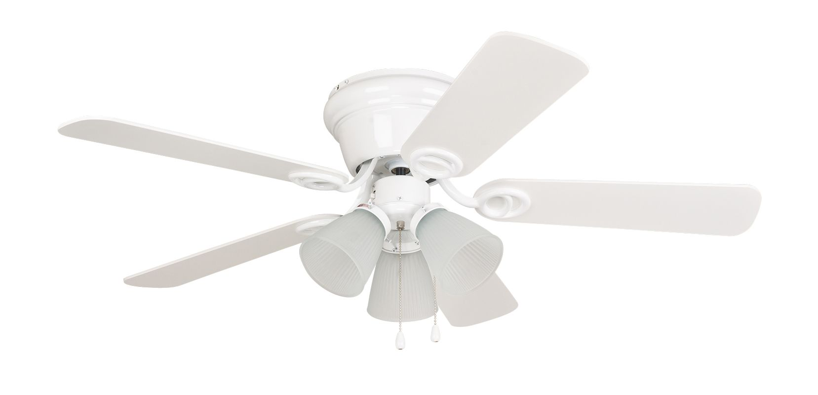 "Ellington Fans Wyman 42"" 5 Blade Indoor Hugger Ceiling Fan White with"
