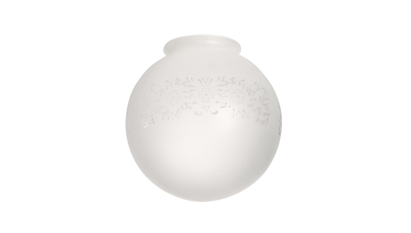 """Ellington Fans 500 3.25"""" Ball Shaped Fan Glass Etched Frosted Ceiling"""