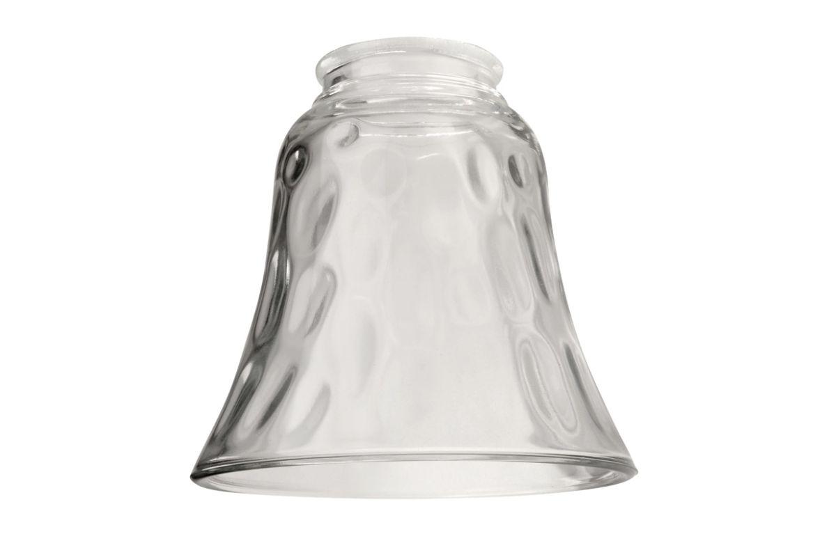 """Ellington Fans 635 2.25"""" Bell Shaped Fan Glass Hammered / Clear"""