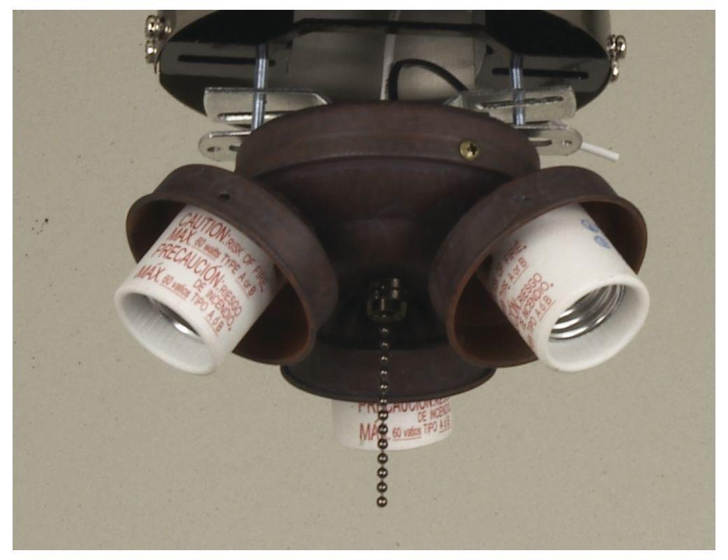 Ellington Fans EUC32 Three Light Fitter Copperstone Ceiling Fan