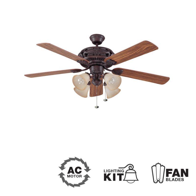 "Ellington Fans Grandeur-L Classic 52"" 5 Blade Indoor Ceiling Fan -"
