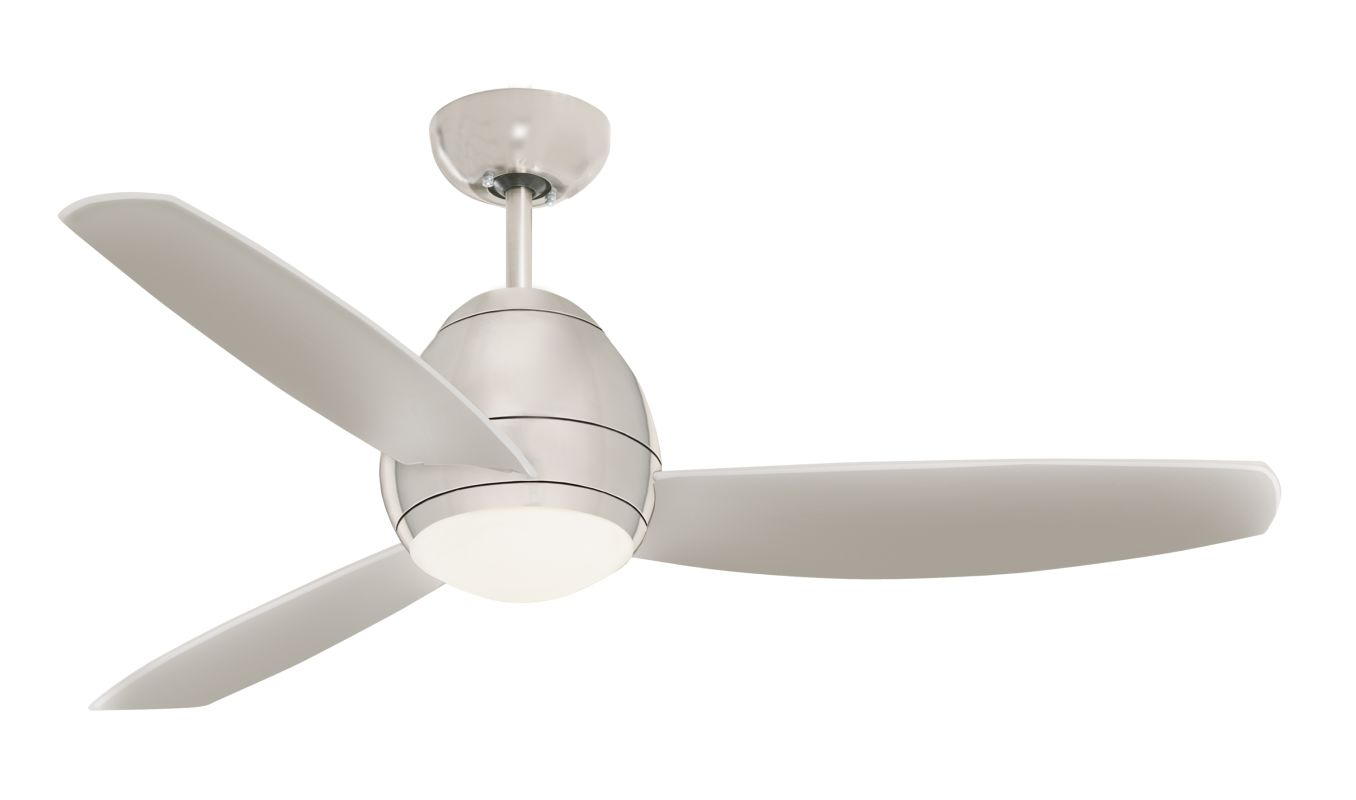 emerson brushed steel 52 curva indoor ceiling fan. Black Bedroom Furniture Sets. Home Design Ideas