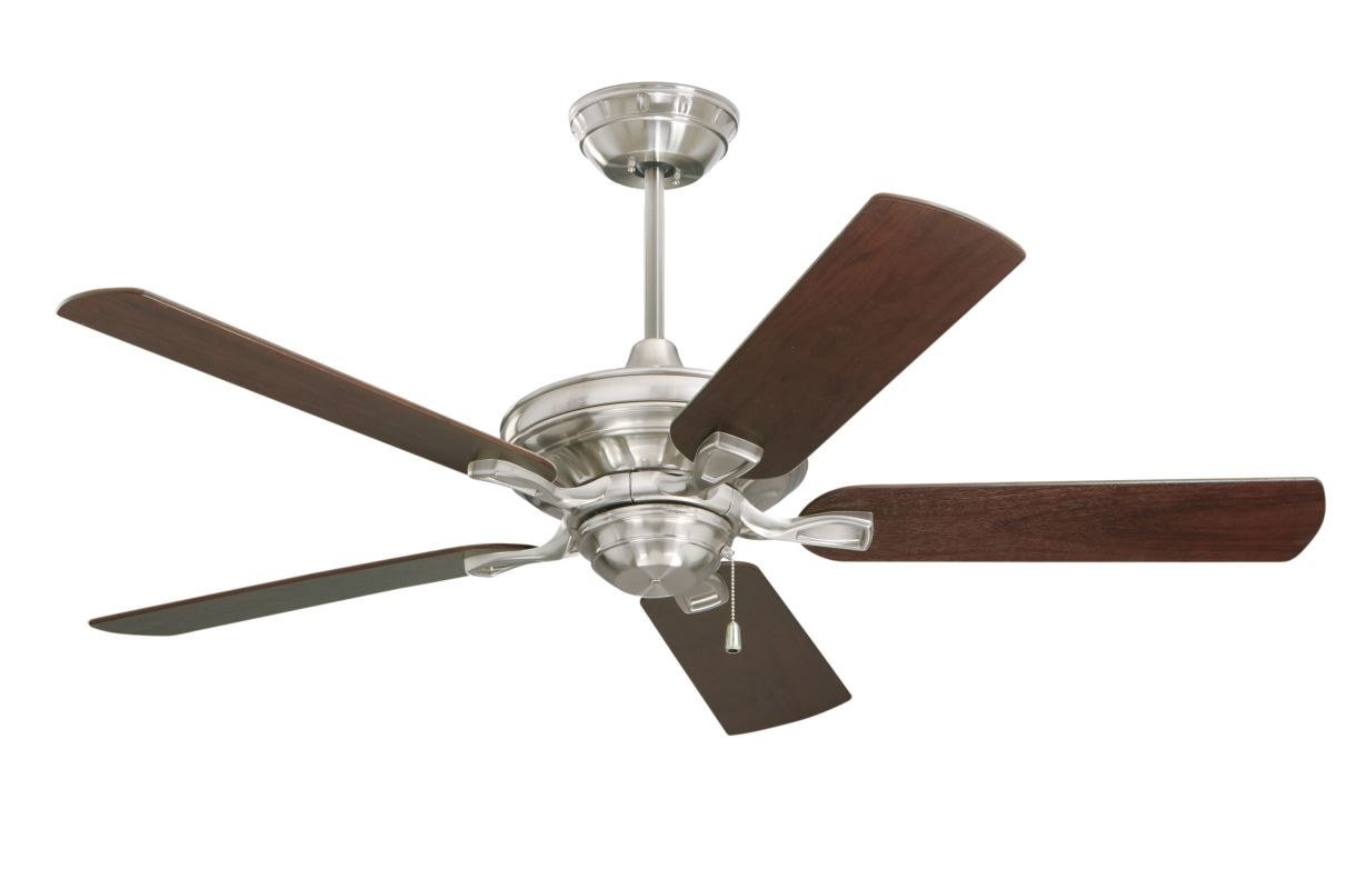 "Emerson CF452 Bella 52"" 5 Blade Ceiling Fan - Blades Included Brushed"