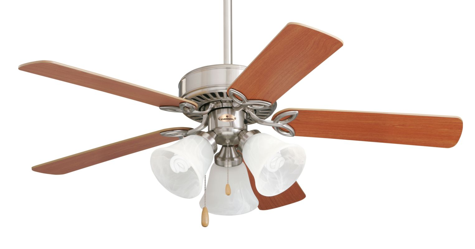 """Emerson CF710 Builder Plus 42"""" 5 Blade Ceiling Fan - Blades and Light"""