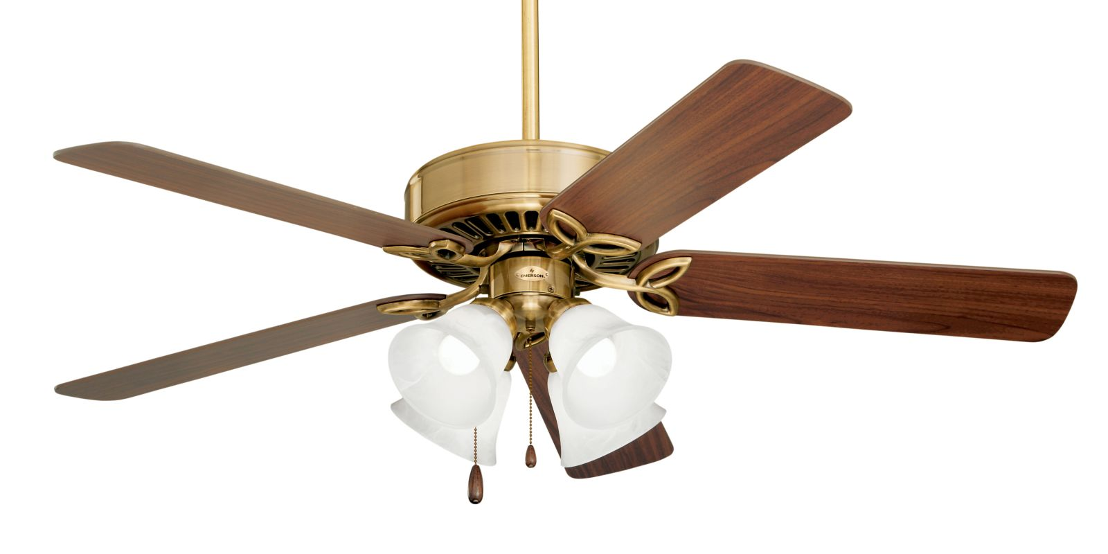 """Emerson CF711 Builder Plus 50"""" 5 Blade Ceiling Fan - Blades and Light"""