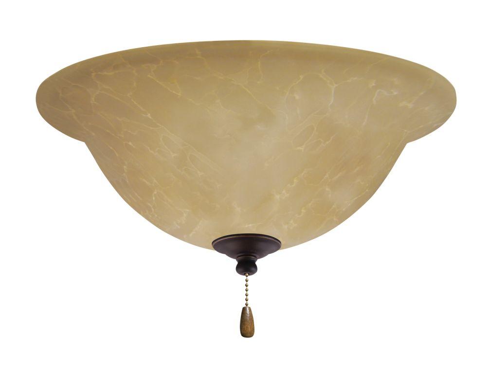 Emerson LK71 Bowl Light Fixture Golden Espresso Ceiling Fan