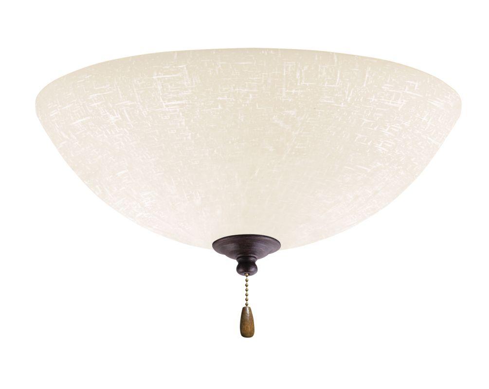 Emerson LK83 Bowl Light Fixture Distressed Bronze Ceiling Fan