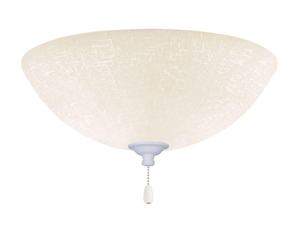 Emerson LK83 Bowl Light Fixture Satin White Ceiling Fan Accessories