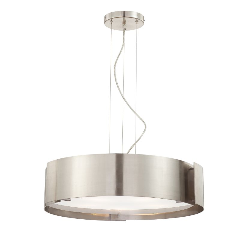 Eurofase Lighting 12531-035 Satin Nickel Contemporary Dervish Pendant