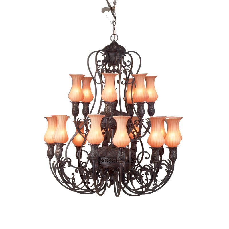 Eurofase Lighting 17495 Eighteen Light Up Lighting Two Tier Chandelier