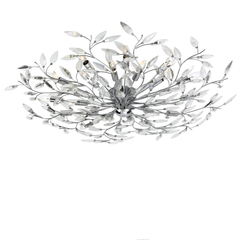 Eurofase Lighting 19384 Crystal 24 Light Felina Flushmount Ceiling