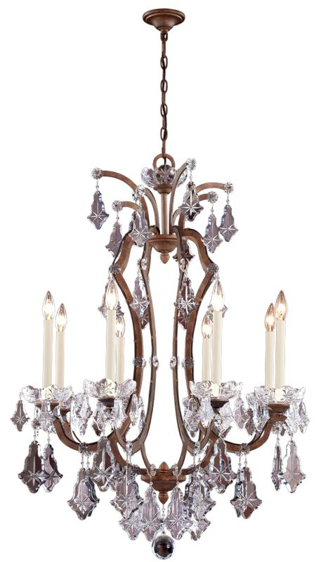 Eurofase Lighting 20307 Crystal 8 Light Up Lighting Chandelier from
