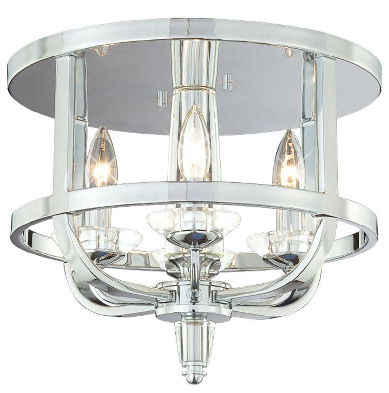 Eurofase Lighting 20312 Crystal 4 Light Flush Mount Ceiling Fixture