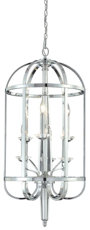Eurofase Lighting 20316 Crystal 6 Light Foyer Pendant from the Senze