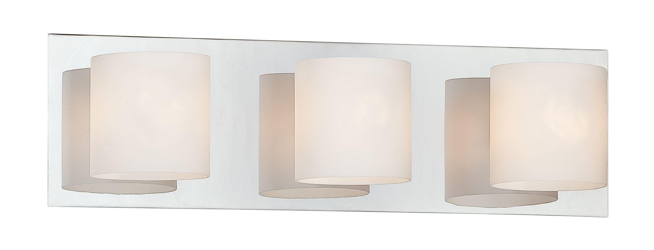 """Eurofase Lighting 20379-025 Chrome 3 Light 5.5""""H Bathroom"""