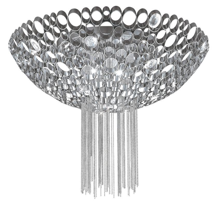 """Eurofase Lighting 20405 Crystal 23.5""""Dia. 3 Light Flush Mount Ceiling"""