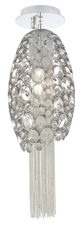 "Eurofase Lighting 20406 Crystal 8""Dia. 1 Light Down Lighting Pendant"