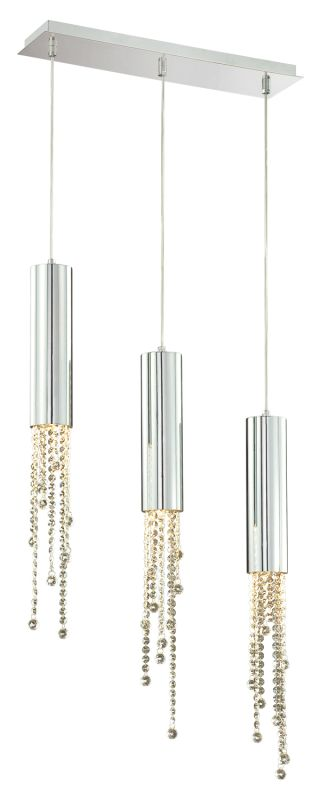 Eurofase Lighting 20418-014 Chrome Contemporary Groove Pendant