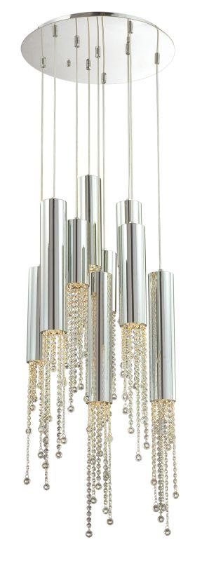 Eurofase Lighting 20419-011 Chrome Contemporary Groove Pendant