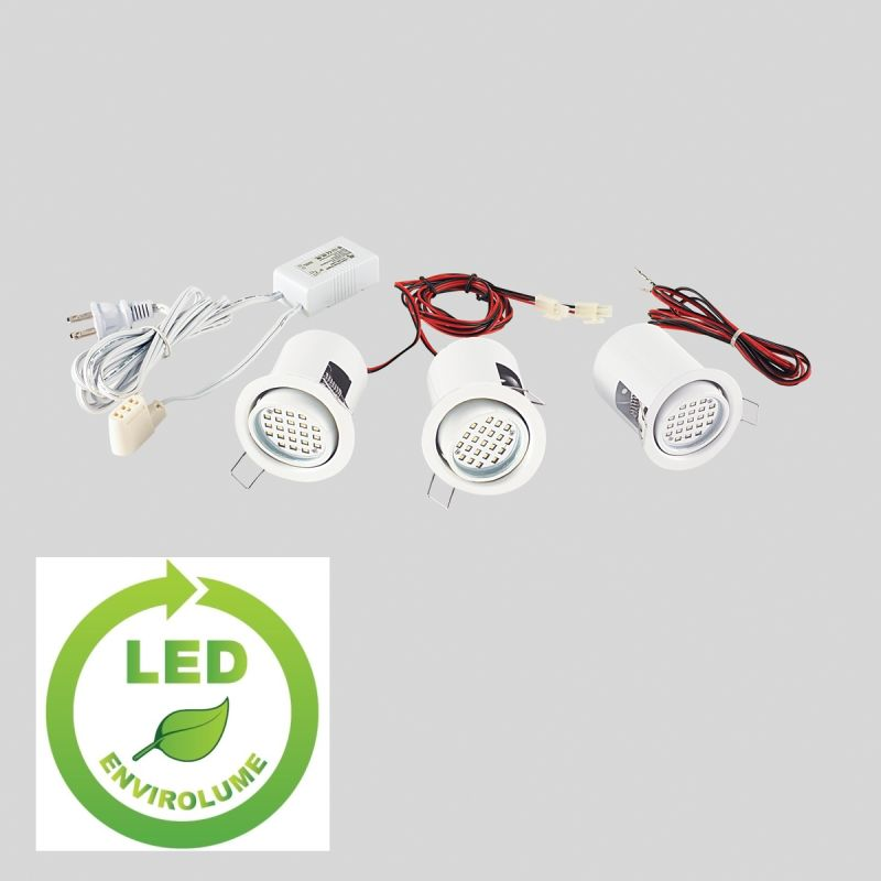 Eurofase Lighting 19542 3 Light Mini LED Adjustable Recessed Downlight Sale $138.00 ITEM: bci1378320 ID#:19542-010 UPC: 773546209212 :