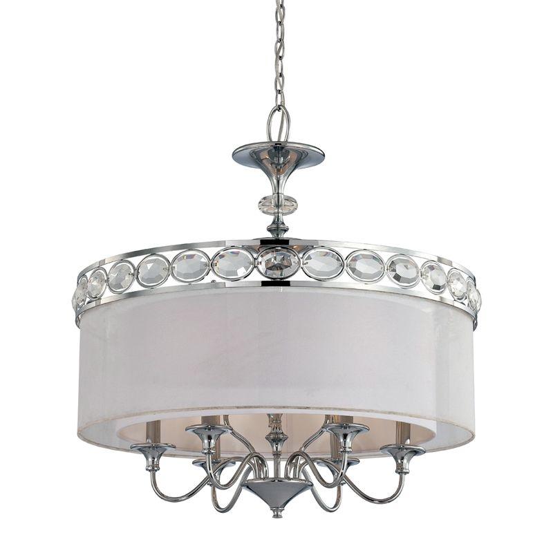 Eurofase Lighting 20297 Bijoux 9 Light Pendant with Drum Shade and