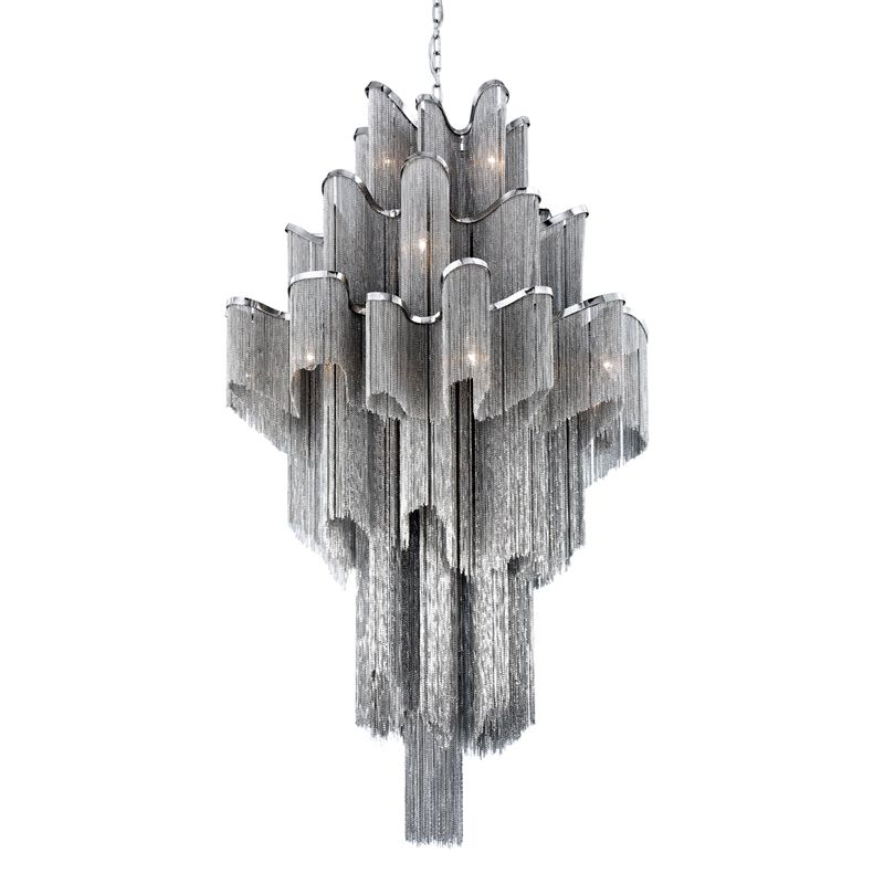 Eurofase Lighting 22823 Cadena 16 Light Pendant with Chain Metal Shade