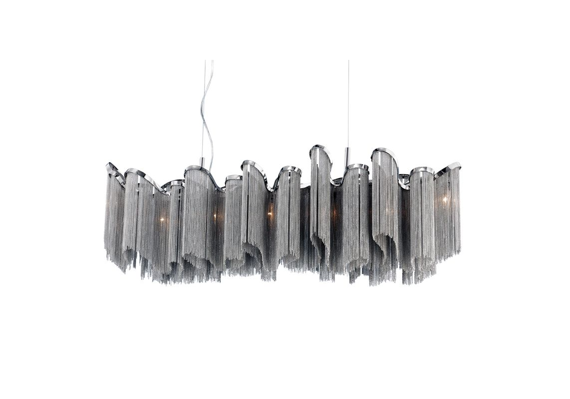 Eurofase Lighting 22824-011 Nickel Contemporary Cadena Chandelier