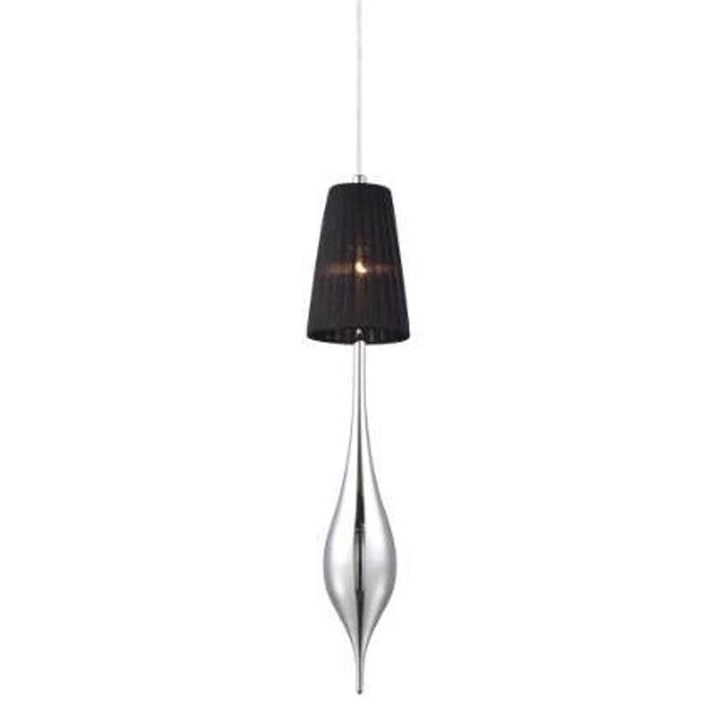 Eurofase Lighting 22826 Aqua 1 Light Pendant Chrome / Black Shade /