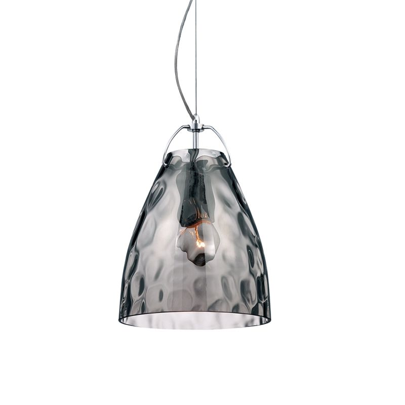 Eurofase Lighting 22899 Amero 1 Light Small Pendant Chrome / Smoke