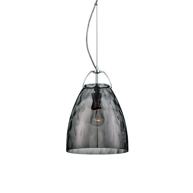 Eurofase Lighting 22900 Amero 1 Light Mini Pendant Chrome / Smoke