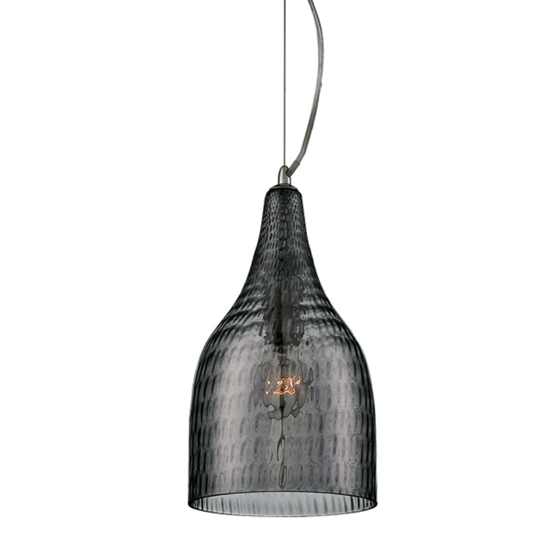 Eurofase Lighting 22903 Altima 1 Light Small Pendant Chrome / Smoke