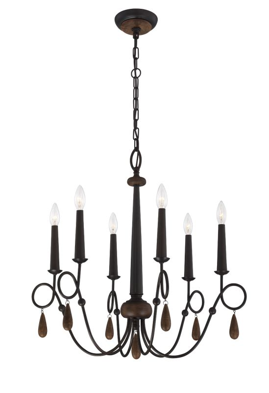 Eurofase Lighting 25591 Corso 6 Light Single Tier Chandelier with