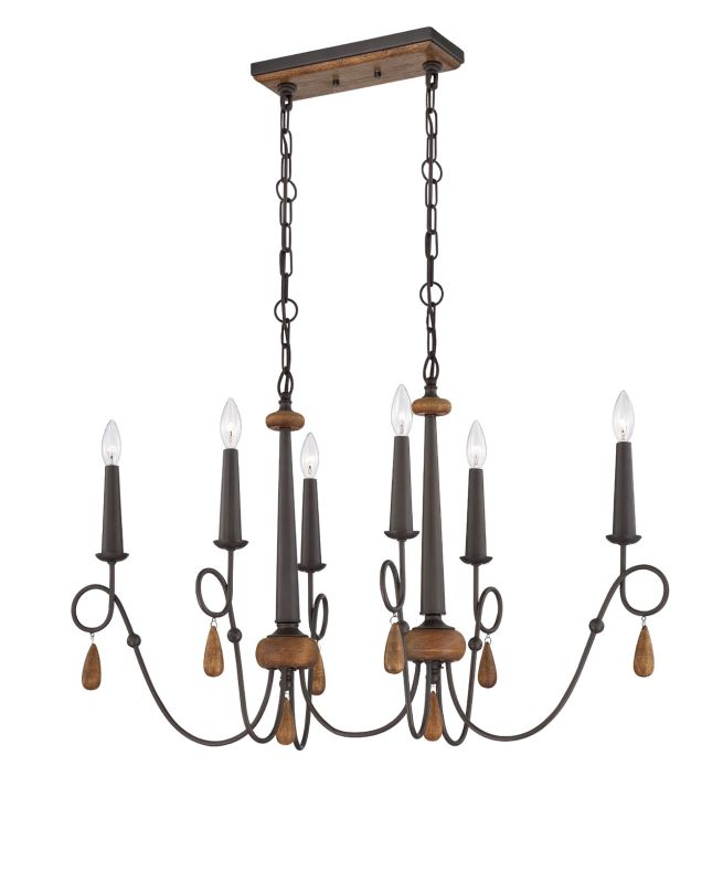 Eurofase Lighting 25592 Corso 6 Light Single Tier Chandelier with