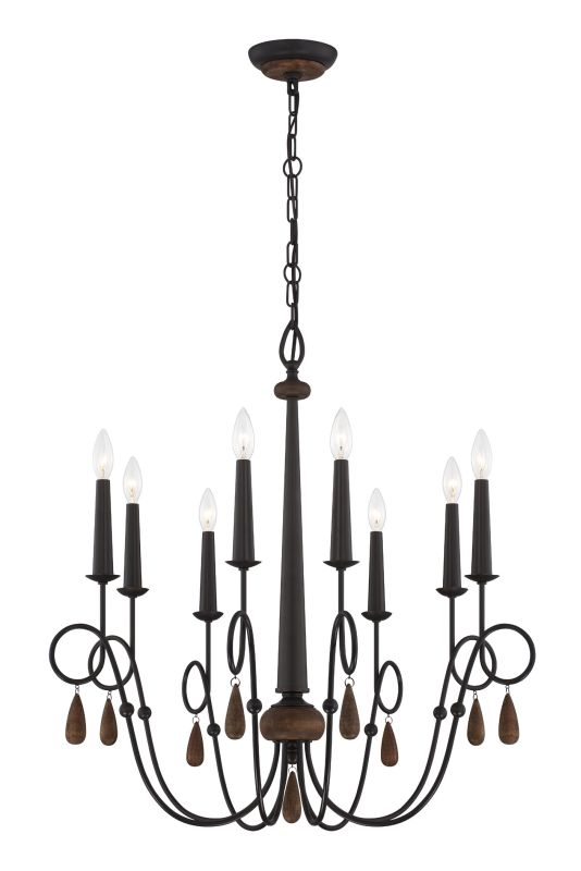 Eurofase Lighting 25593 Corso 8 Light Single Tier Chandelier with