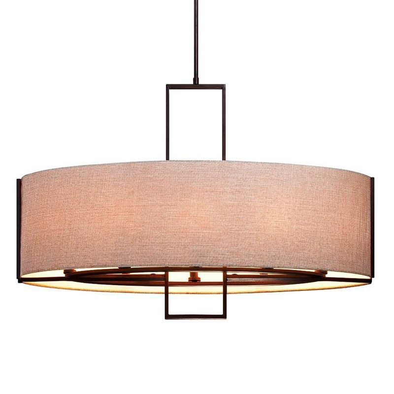 Eurofase Lighting 25599 Strada 8 Light Pendant with Oval Fabric Shade