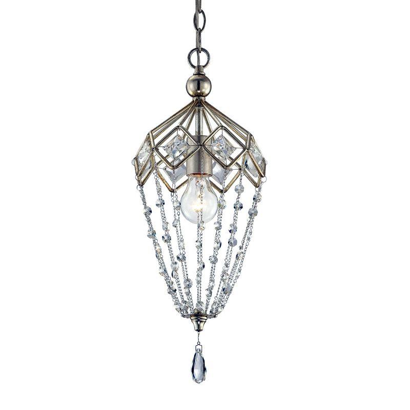 Eurofase Lighting 25626 Collana 1 Light Pendant with Hanging Crystal