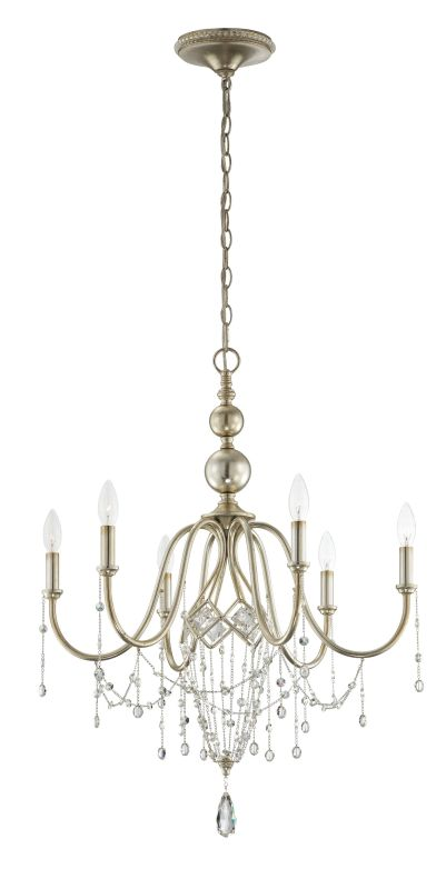 Eurofase Lighting 25628 Collana 6 Light Single Tier Crystal Chandelier