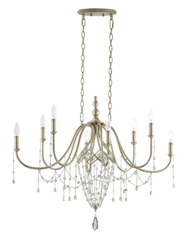 Eurofase Lighting 25629 Collana 8 Light Single Tier Crystal Chandelier