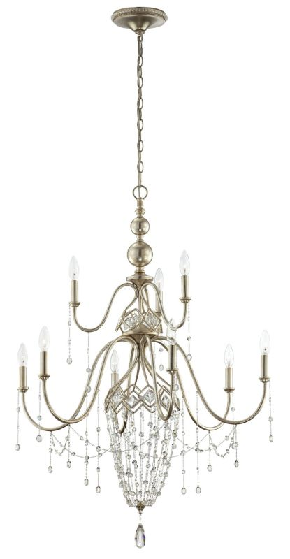 Eurofase Lighting 25630 Collana 9 Light Two Tier Crystal Chandelier