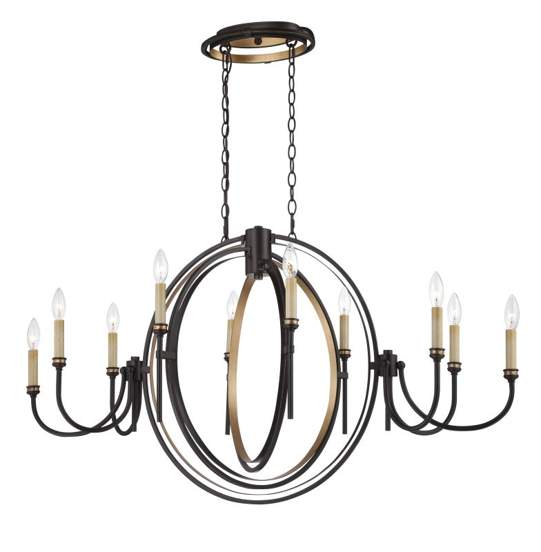 Eurofase Lighting 25648 Infinity 10 Light Single Tier Chandelier Oil